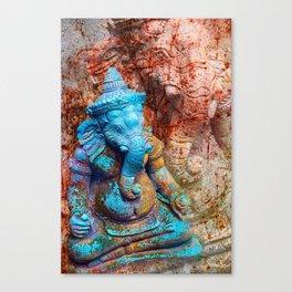 Ganesha blue Canvas Print