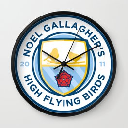 Noel Gallagher's High Flying Birds Crest Wall Clock