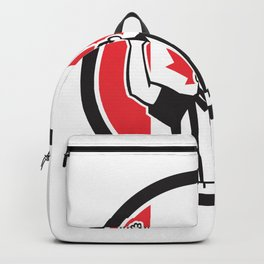 Canadian Football Referee Canada Flag Icon Backpack