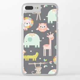 Animals Clear iPhone Case