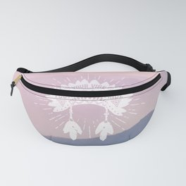 Your Vibe Attracts Your Tribe - Sunset Mountains Fanny Pack