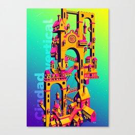 Ciudad Vertical Canvas Print