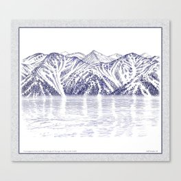 TURNAGAIN ARM AND THE CHUGACH RANGE ON THE COOK INLET ALASKA Canvas Print