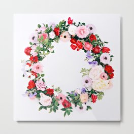 Floral Wreath Metal Print