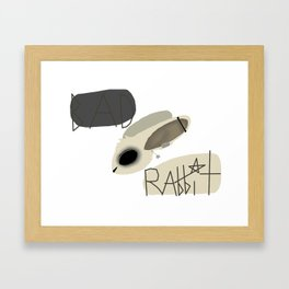 Bad Rabbit logo Framed Art Print