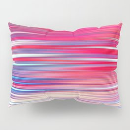 pink abstract with horizontal stripes Pillow Sham