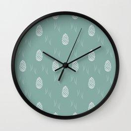 Pinecones (Moss) Wall Clock