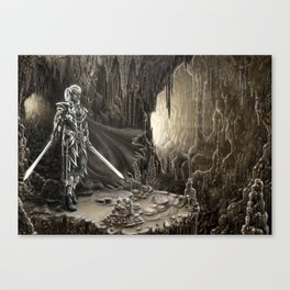 Golden cavern Canvas Print