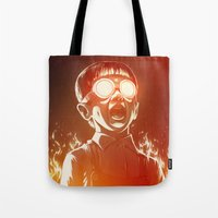party Tote Bags featuring FIREEE! by Dr. Lukas Brezak