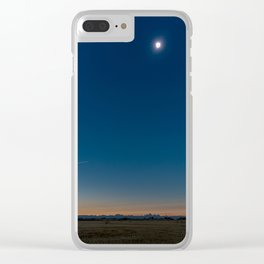 Solar Eclipse Totality Over Grand Tetons Clear iPhone Case