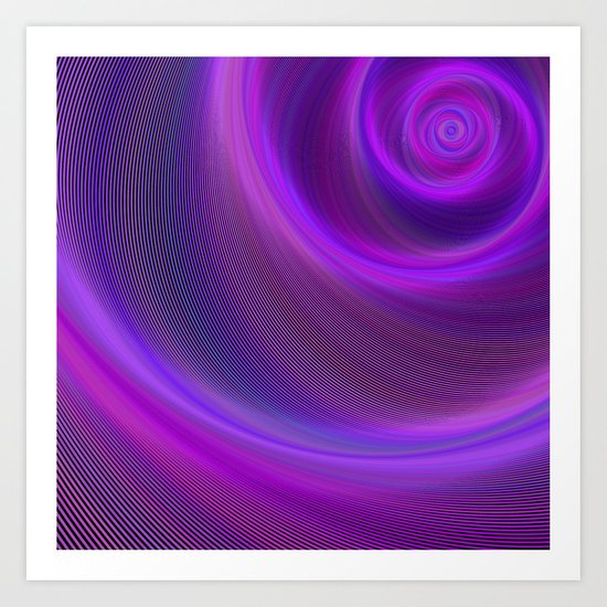 Purple night storm Art Print