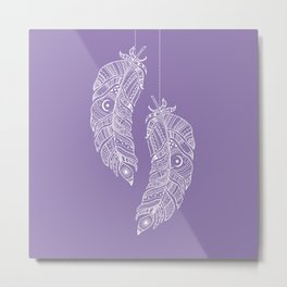 Tribal Feathers Metal Print