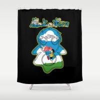 ponyo Shower Curtains featuring Ponyo by CarloJ1956