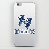 nfl iPhone & iPod Skins featuring Tennessee Tie Fighters - NFL by Steven Klock