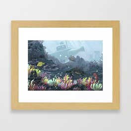 Underwater Coral Framed Art Print