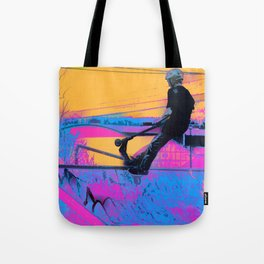 On Edge -  Stunt Scooter Artwork Tote Bag