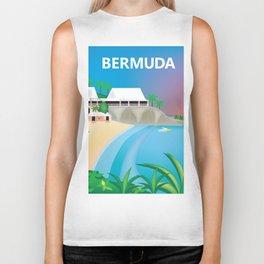 Bermuda - Skyline Illustration by Loose Petals Biker Tank