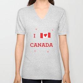 I heart Canada Unisex V-Neck