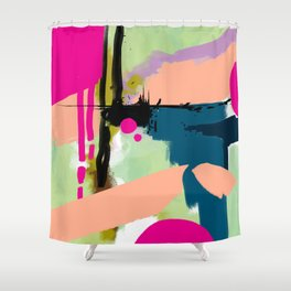 abstract color play Shower Curtain