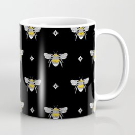 Bumblebee Stamp on Black Coffee Mug