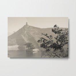Black & White Landscape in Jaipur Metal Print