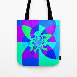 Orchid Aqua Turquoise Kaleidoscope Tote Bag