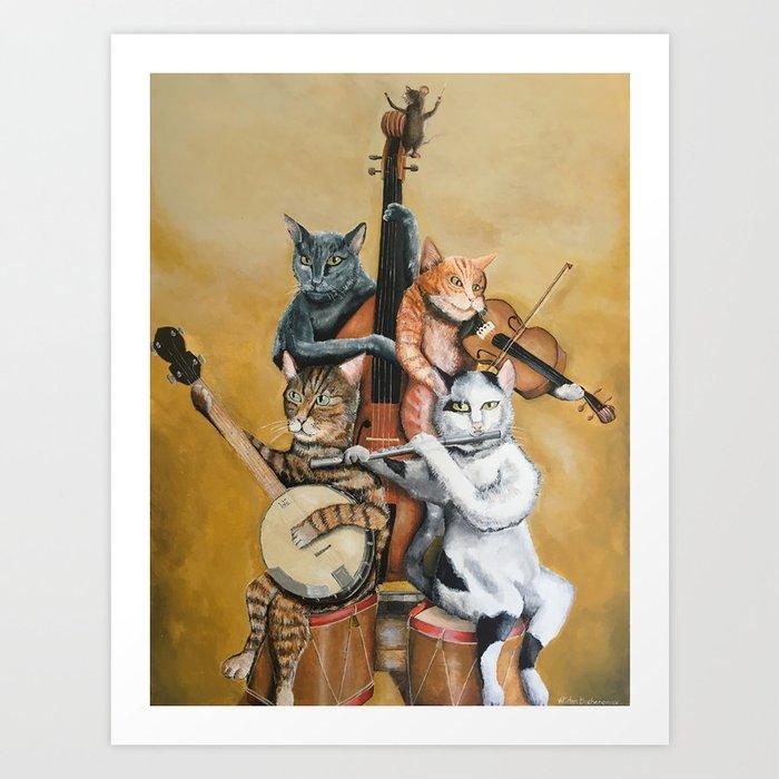 Cat Quartet Art Print
