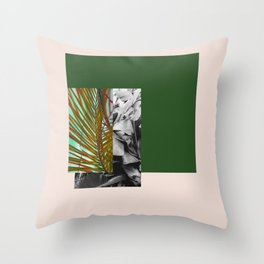 Gray and Green Throw Pillow