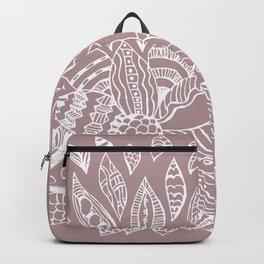 Scattered Petals on Vintage Backdrop Backpack