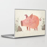 pig Laptop & iPad Skins featuring Pig by Michelle McGaughey