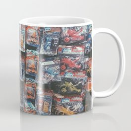 robot toy and car toy at the toy store pattern background Coffee Mug