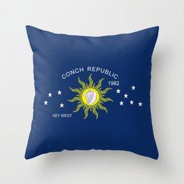 The Conch Republic Flag Throw Pillow