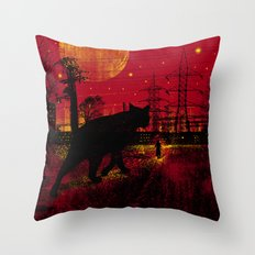 Cleo in the Dark Throw Pillow