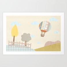 baloon collage Art Print