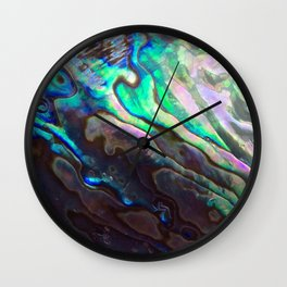 Pearlescent Abalone Shell Wall Clock