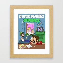 Super Mario Junkies Framed Art Print