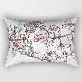 Sakura pink spring flowers Rectangular Pillow