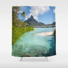Bora Bora Mountain View Shower Curtain