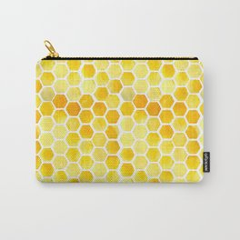 Watercolour Honeycomb Carry-All Pouch