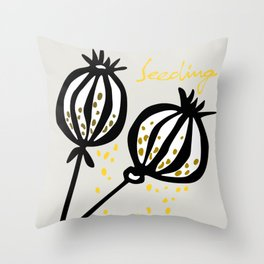 seeding Throw Pillow