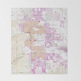 Vintage Map of Palm Springs California (1957) Throw Blanket