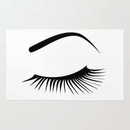 Closed Eyelashes Left Eye Rug