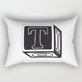The Alphabetical Stuff - T Rectangular Pillow