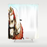 spain Shower Curtains featuring Andalucia, Spain by arnedayan