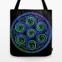 Dragon Seven Spirals Mandala Tote Bag