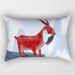 Mountain Goat Design Rectangular Pillow