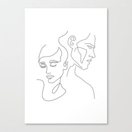 Couple Minimal Line Canvas Print