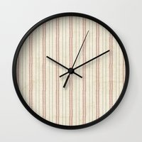 baseball Wall Clocks featuring Baseball by Denise Zavagno