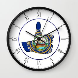 Thumbs Up New Hampshire Wall Clock