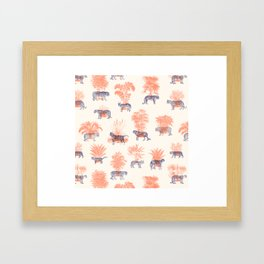 Where they Belong - Tigers Framed Art Print